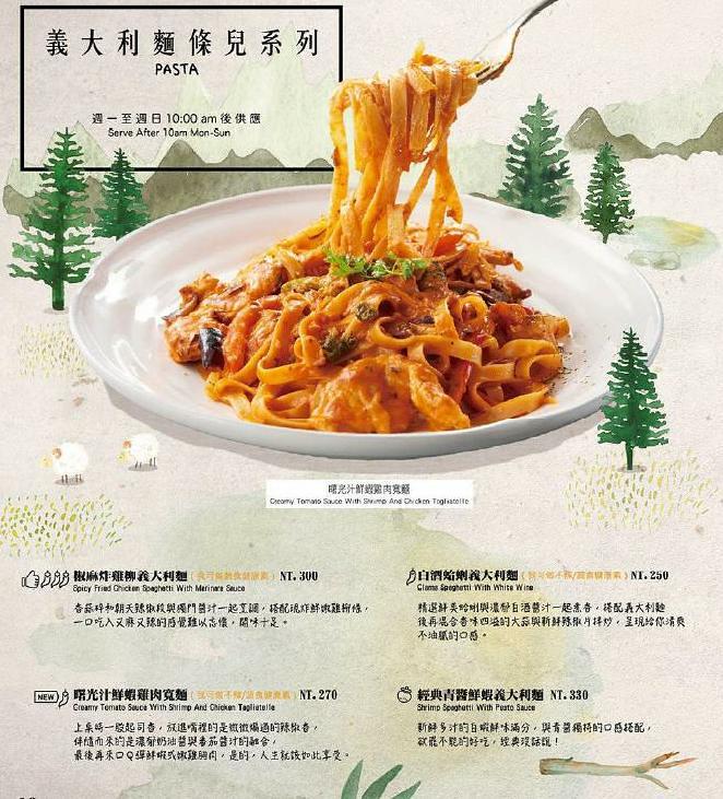 貳樓餐廳早午餐義大利麵甜點菜單menu訂位 (1)