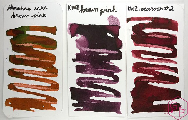 Krishna Inks Brown Pink Fountain Pen Ink Review @PenChalet 5