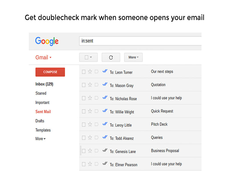 Doubletick for Gmail