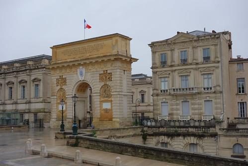 Porte du Peyrou  - A Triumphal Arch  in Montpellier, France