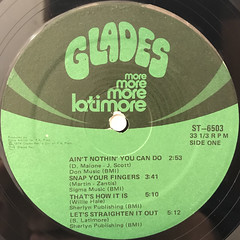 LATIMORE:LET'S STRAIGHTEN IT OUT(LABEL SIDE-A)
