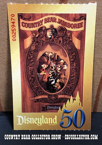 2006 Disneyland 50th Country Bear Jamboree Ticket - Country Bear Collector Show #150