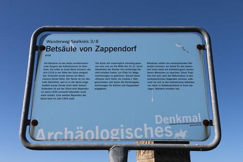 Betsäule von Zappendorf, Info