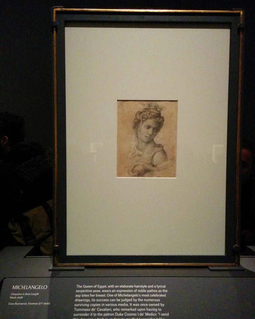 Cleopatra in Bust Length #newyorkcity #newyork #metmuseum #metmichaelangelo #michaelangelo #drawing #latergram