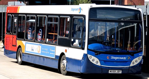 MX59 JBY 'Stagecoach Manchester' No. 36101. Dennis Dart SLF4 / Alexander Dennis Ltd. Enviro 200 on 'Dennis Basford's railsroadsrunways.blogspot.co.uk'