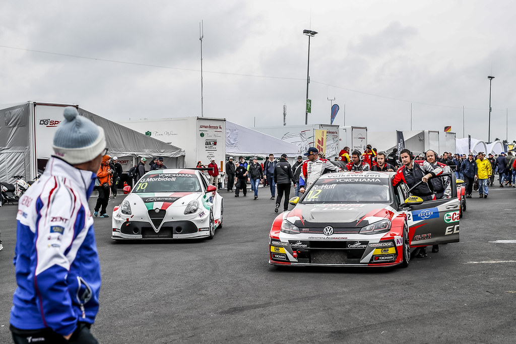 12 HUFF Rob (GBR), Sebastien Loeb Racing, Volkswagen Golf GTI TCR, 10 MORBIDELLI Gianni (ITA), Team Mulsanne, Alfa Romeo Giulietta TCR, paddock during the 2018 FIA WTCR World Touring Car cup of Nurburgring, Germany from May 10 to 12 - Photo Florent Gooden / DPPI