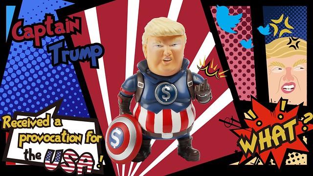 連薩諾斯也會怕?! Stingrayz Art Studio 領導者聯萌【川普隊長】the Leadershit Series Captain Trump 迷你可動人偶 Kickstarter 募資中~