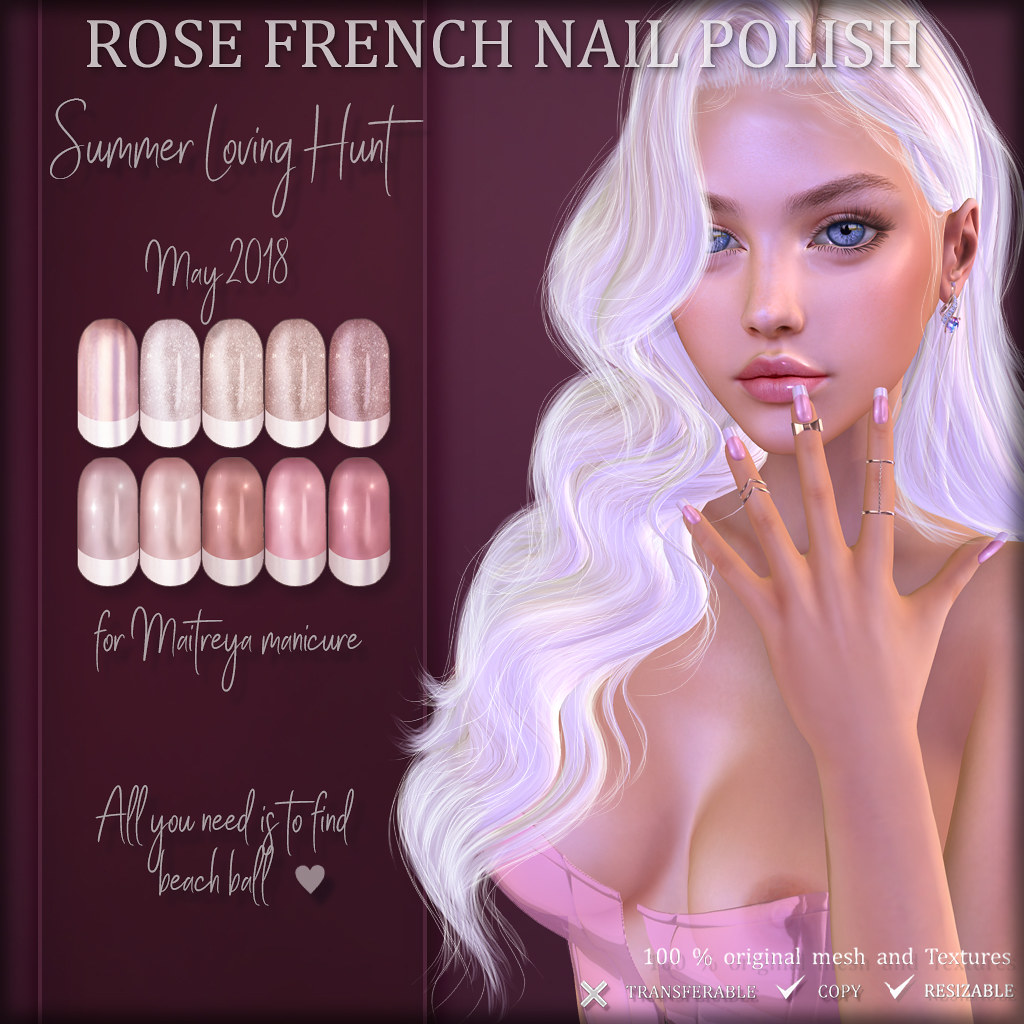 HUNT Item: ROSE French nail polish for maitreya Manicure