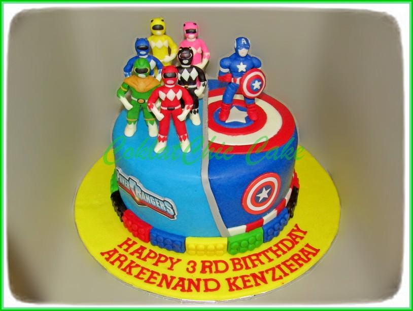 Cake Power Rangers Captain America ARKEENAND 18 cm