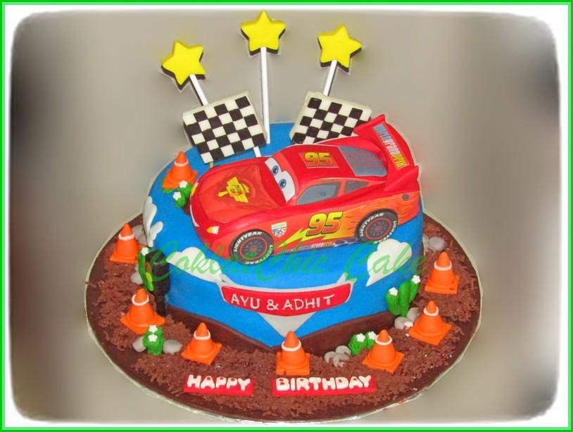 Cake Lightning McQueen Cars AYU & ADHIT 20 cm