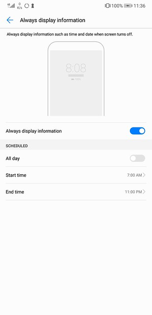 EMUI 8.1 - Always Display Information