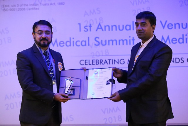 Prof Dr Srikumar Chakravarthi received the International Medical Award for Excellence in Pathology
