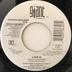 VANESSA WILLIAMS AND BRIAN MCKNIGHT:LOVE IS(LABEL SIDE-B)