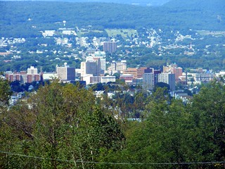 Downtown Wilkes-Barre from Giants Despair