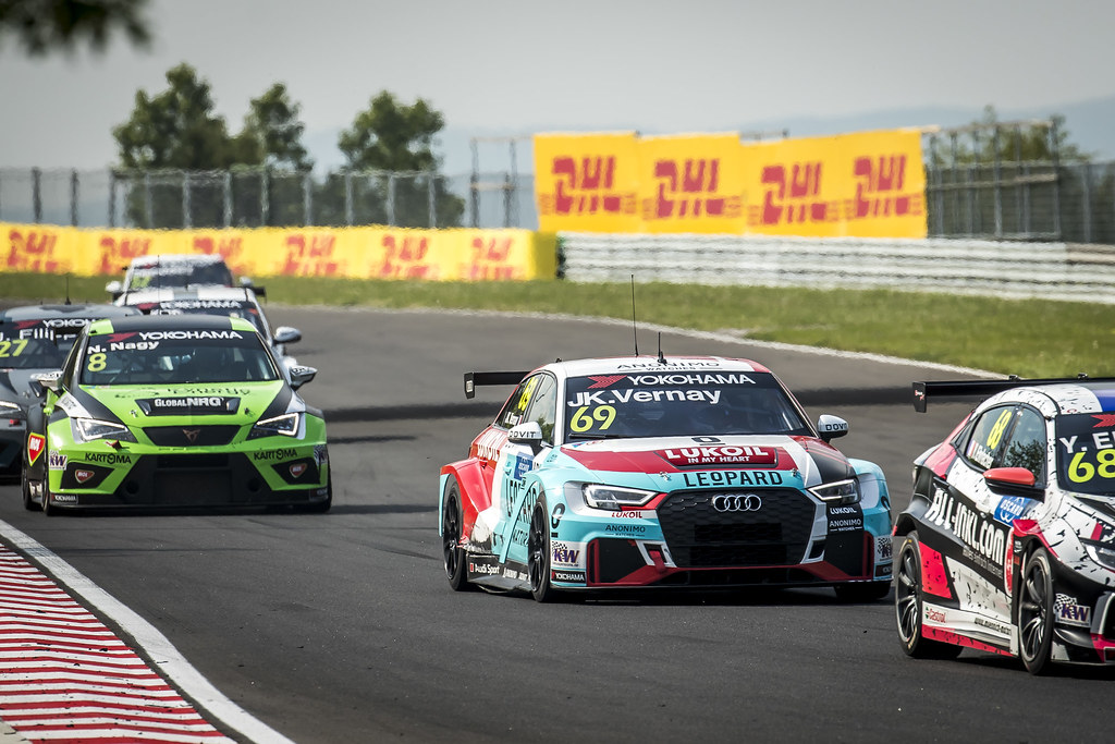 69 VERNAY Jean-Karl (FRA), Audi Sport Leopard Lukoil Team, Audi RS3 LMS, action during the 2018 FIA WTCR World Touring Car cup, Race of Hungary at hungaroring, Budapest from april 27 to 29 - Photo Gregory Lenormand / DPPI
