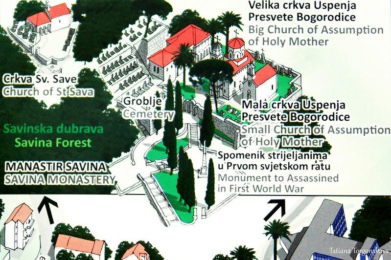 Карта Савинского монастыря