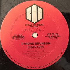 TYRONE BRUNSON:THE SMURF(LABEL SIDE-B)