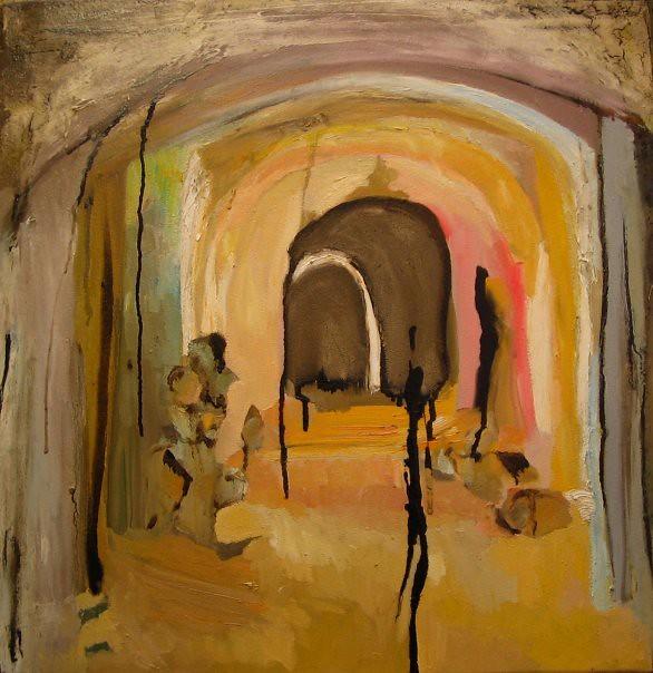 Cunicolo - 57x57 cm. Oil on canvas 2007