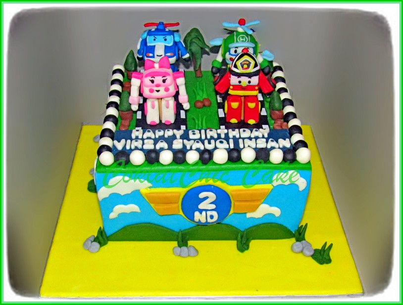 Cake Robocar VIRZA 15 cm