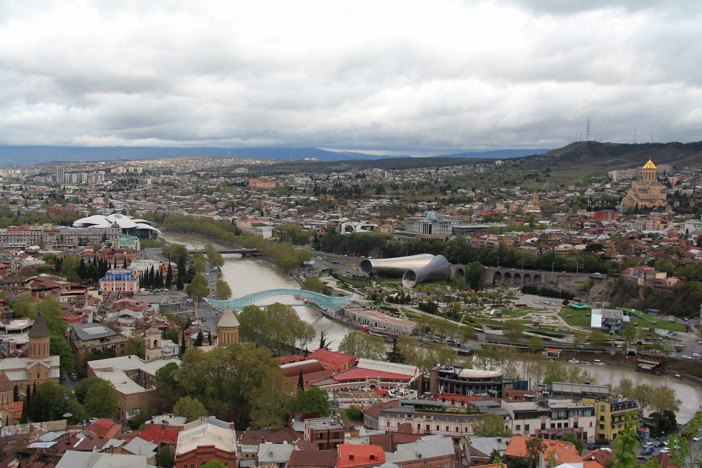 Тбилиси - парк Рике и крепость Нарикала