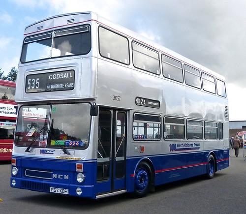 F57 XOF 'Travel West Midlands' No. 3057 MCW DR102/70 Metrobus 2 on Dennis Basford's railsroadsrunways.blogspot.co.uk'