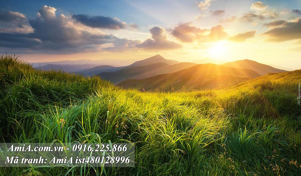 Cảnh nhật xuất thiên sơn mặt trời mọc trên đỉnh núi