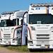 Line-up of ICS Haulage Scania S500 Trucks Peterborough Truckfest 2018