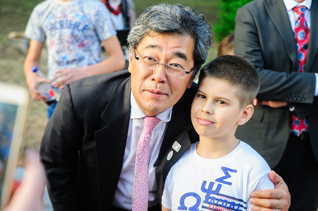 Delegation from Japan visited UNDP and UNICEF programme implementation sites in Luhansk Oblast