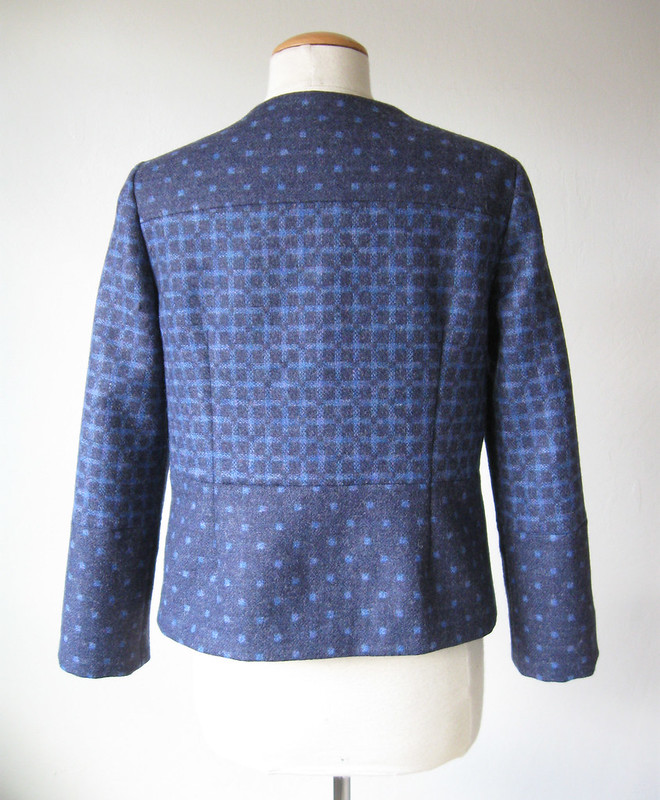 Back blue wool 2side jacket
