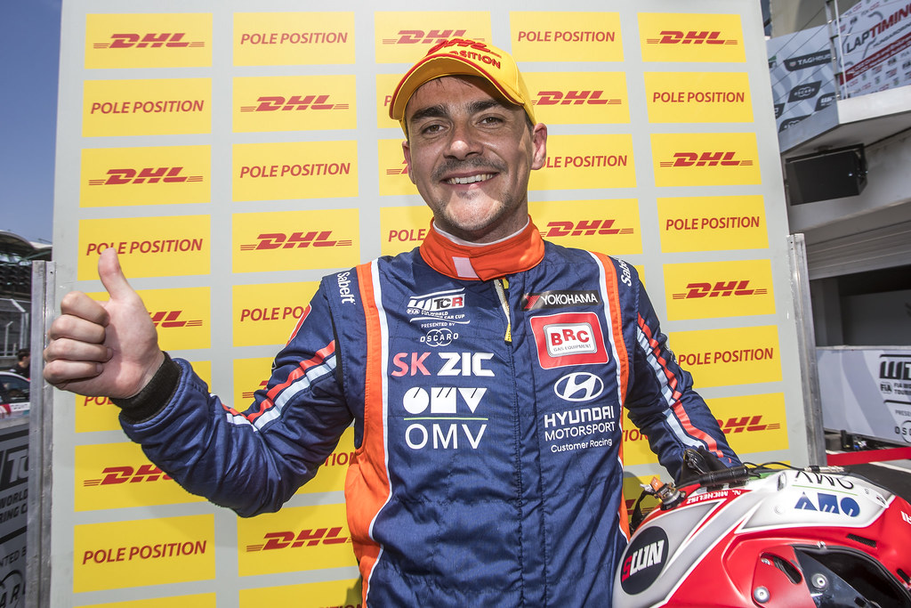 MICHELISZ Norbert (HUN), BRC Racing Team, Hyundai i30 N TCR, portrait, DHL  pole position, during the 2018 FIA WTCR World Touring Car cup, Race of Hungary at hungaroring, Budapest from april 27 to 29 - Photo Gregory Lenormand / DPPI