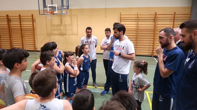CANTERA | Alcoba, Kapelan y Rodríguez visita al Pequebasket