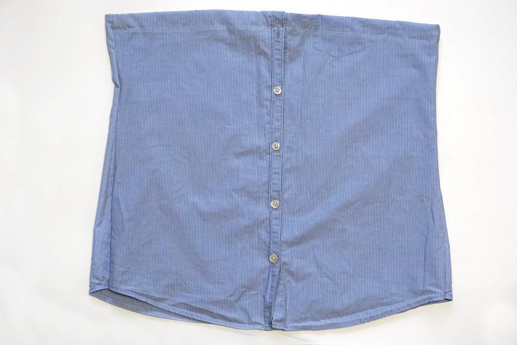 DIY: Переделываю рубашку в модный топ!
