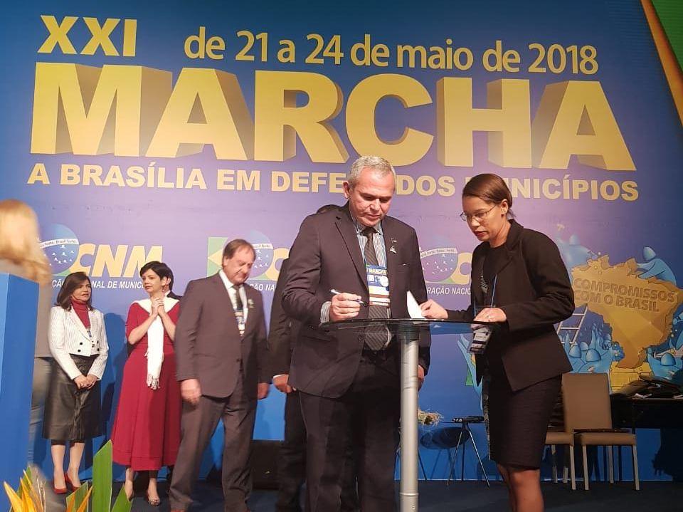 Nelio assume cargo na nova diretoria da Confederação Nacional de Municípios, Nelio Aguiar