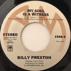 BILLY PRESTON:NOTHING FROM NOTHING(LABEL SIDE-B)