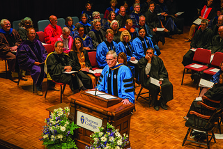 President David Oxtoby at Convocation, August 29, 2016.