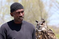 Rodney Stotts and Eurasian eagle owl
