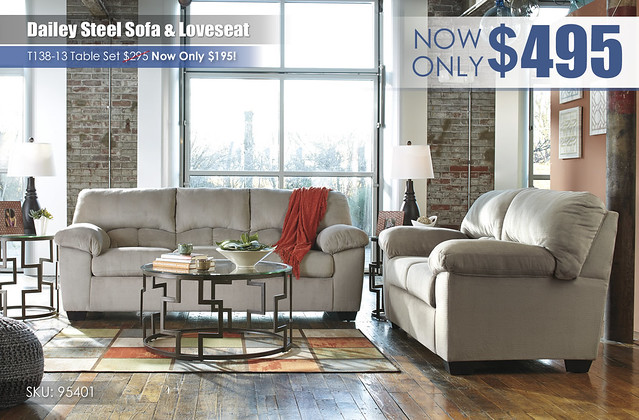 Dailey Steel Sofa & Loveseat_95401