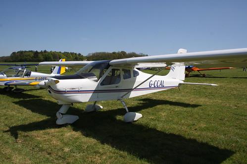 G-CCAL Tecnam P.92 Echo [PFA 318-13842] Popham 050518