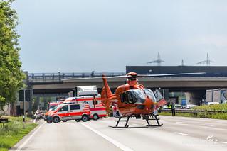 Lkw-Auffahrunfall A3 Kelsterbach 16.05.18
