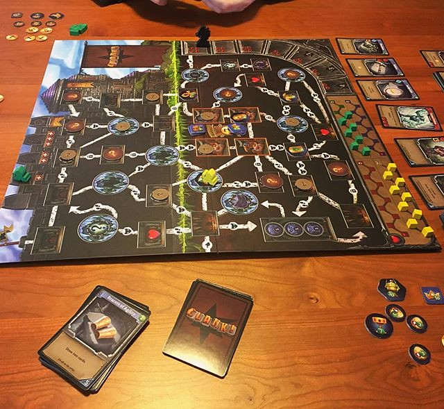 Rainy day boardgaming. Trying to dungeon crawl without making any noise. #clank #clankboardgame #boardgames