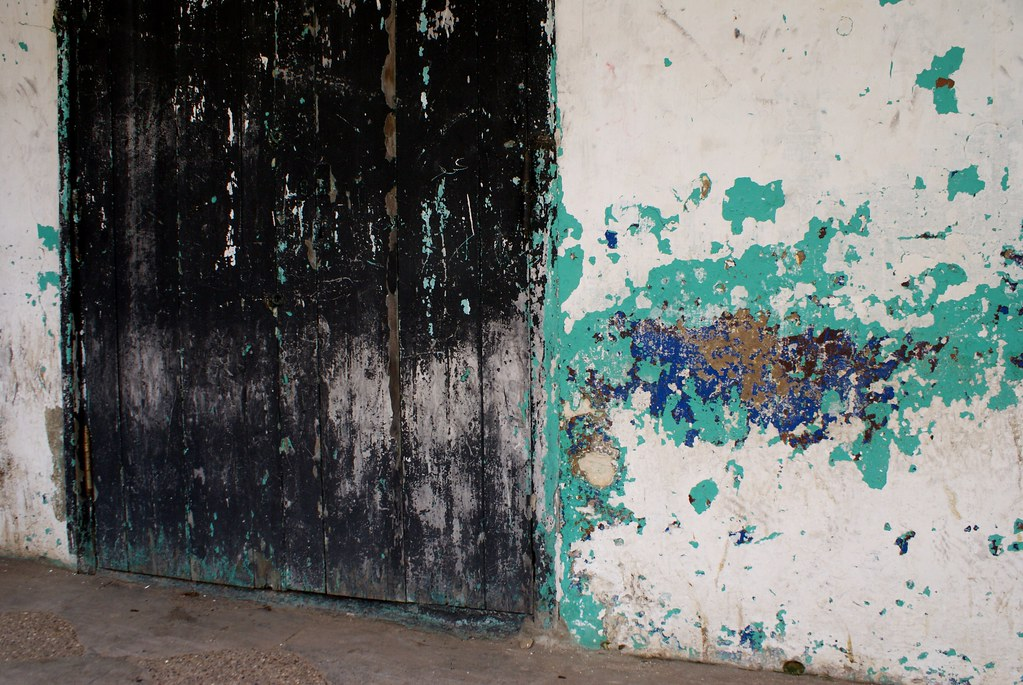 Quand les murs ressemblent à une toile abstraite.