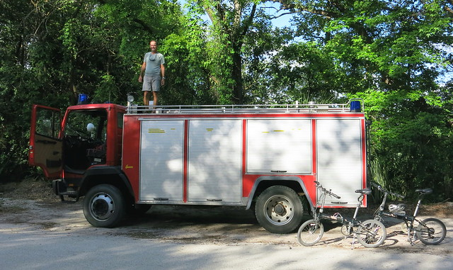 Bringing to Fire truck home 008