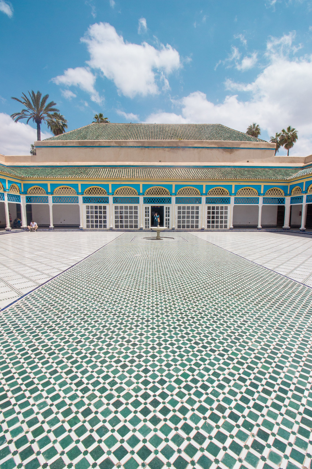 Bahia Palace, in Marrakech - definitely not as quiet as it looks
