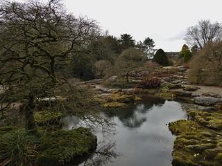Garden at Sizergh Castle near Kendal, Cumbria, England - March 2018
