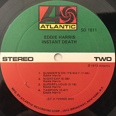 EDDIE HARRIS:INSTANT DEATH(LABEL SIDE-B)