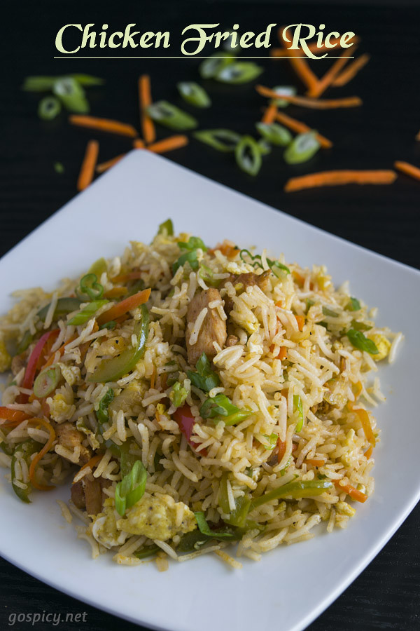 Chicken Fried Rice Recipe by GoSpicy.net