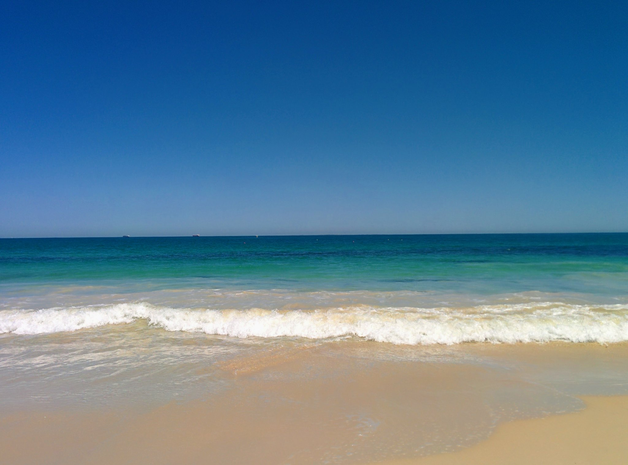 The surf along Cottesloe beach