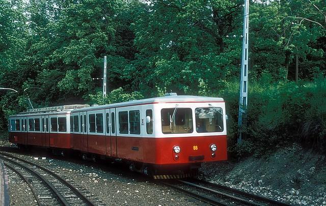 Zahnradbahn  ET 66  Budapest  01.06.80