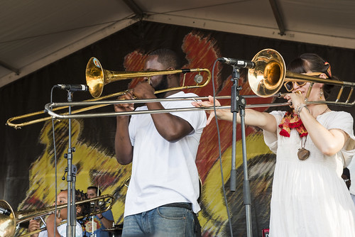 Cha Wa during Jazz Fest day 2 on April 28, 2018. Photo by Ryan Hodgson-Rigsbee