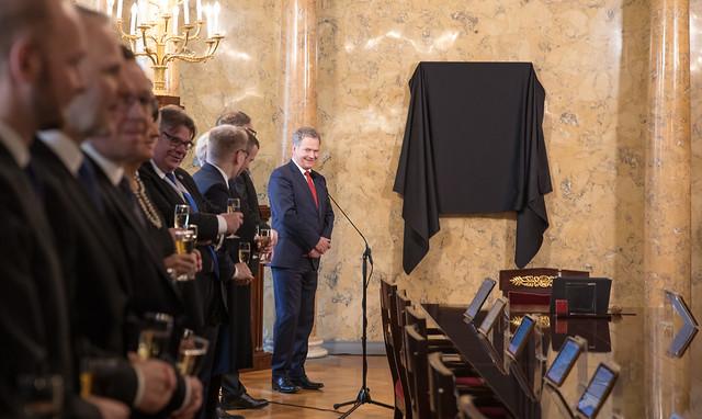 Tasavallan presidentti Sauli Niinistön muotokuvan paljastus 4.5.2018
